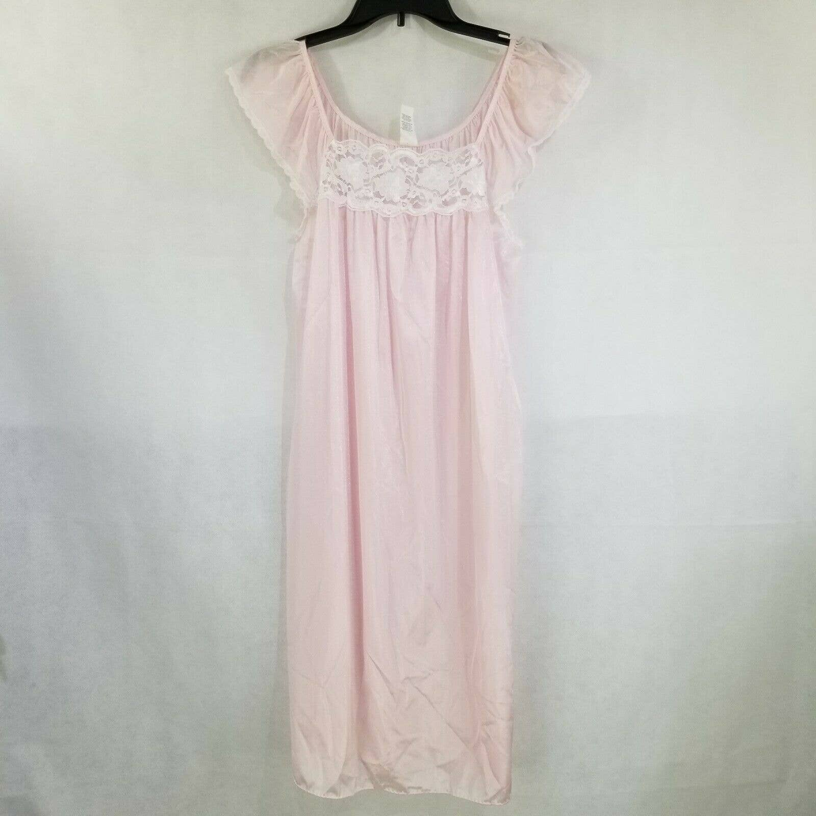Product Image 1 - Vintage ladies nightgown  Sleeveless style  Pink with