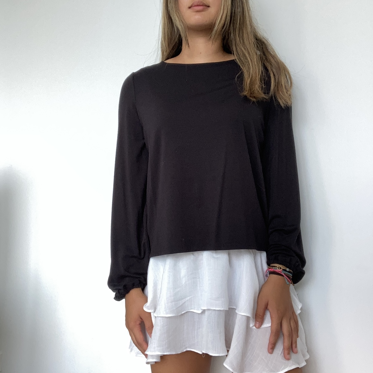 Product Image 1 - ☆ black ruched cuff shirt