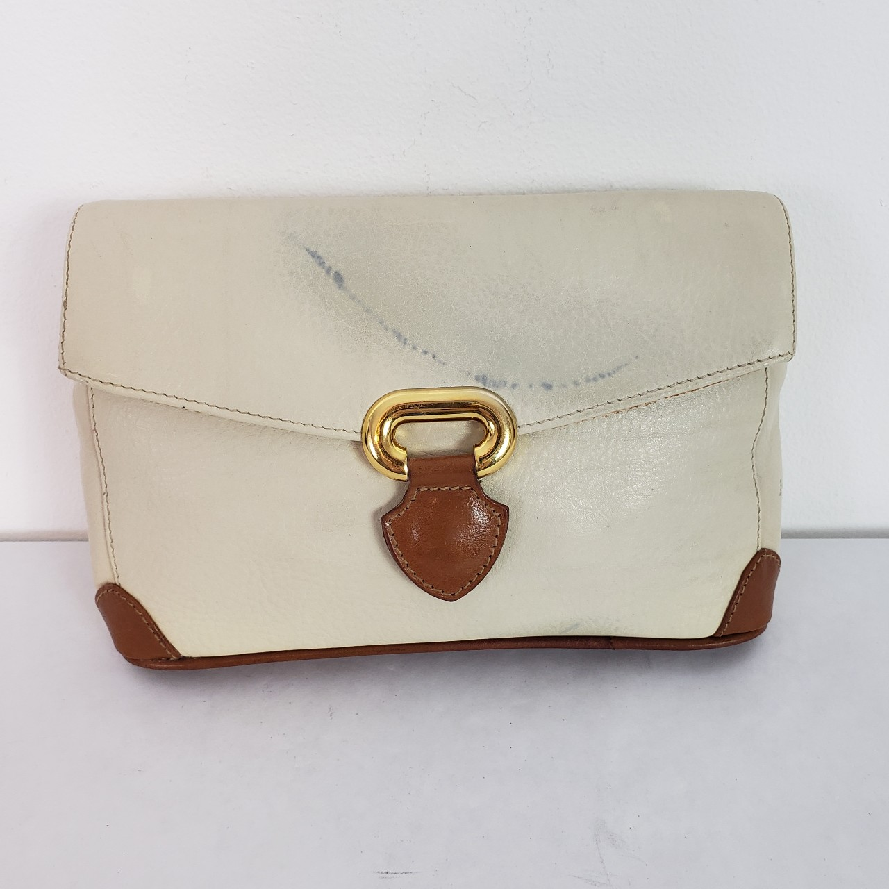 Product Image 1 - Furla leather clutch bag Cream with