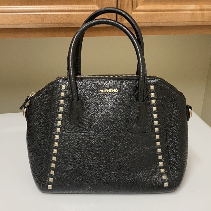 Product Image 1 - Valentino black leather bag with