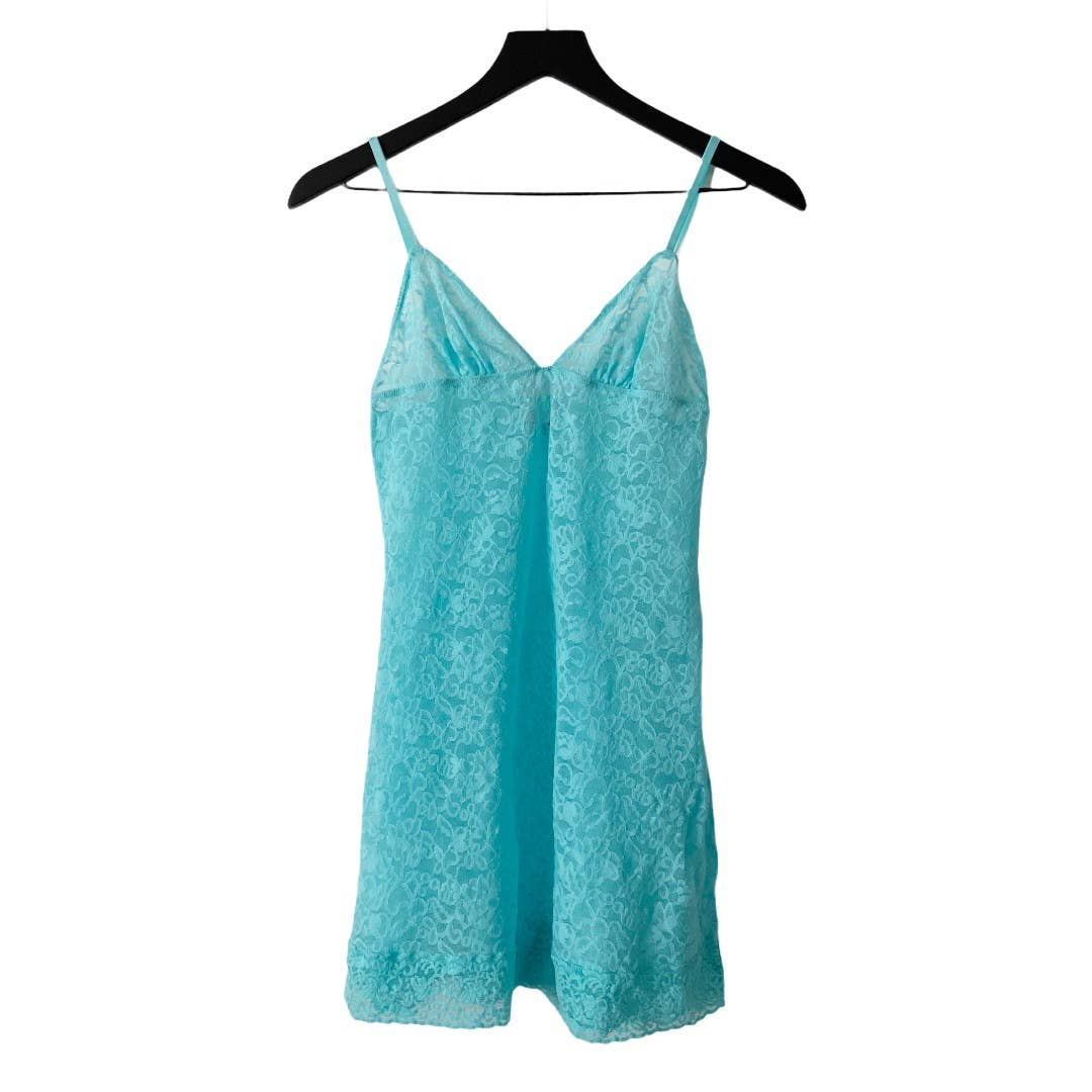 Product Image 1 - Fitted, Turquoise Lace Lingerie Cami
