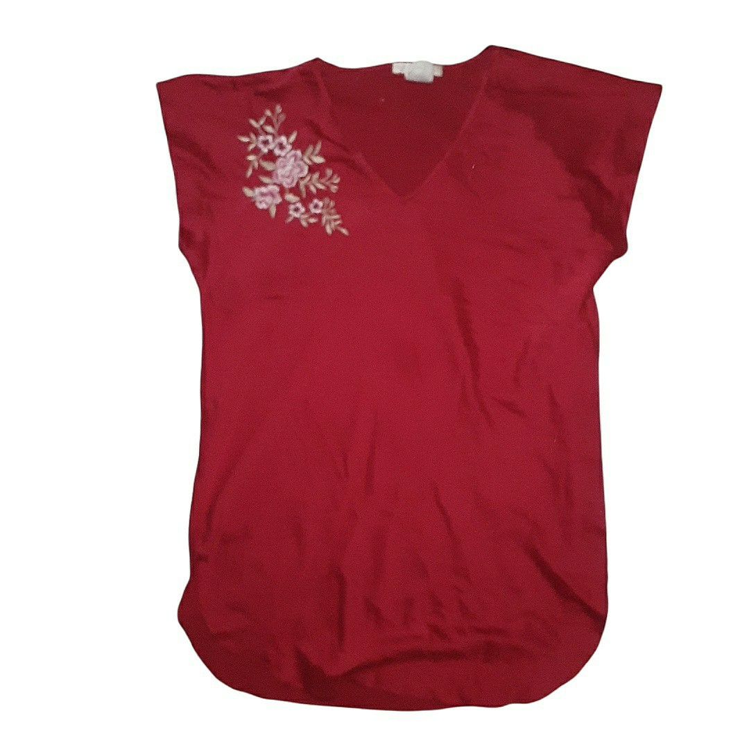 Product Image 1 - 90s Red Embroidered Slip Shirt. Super