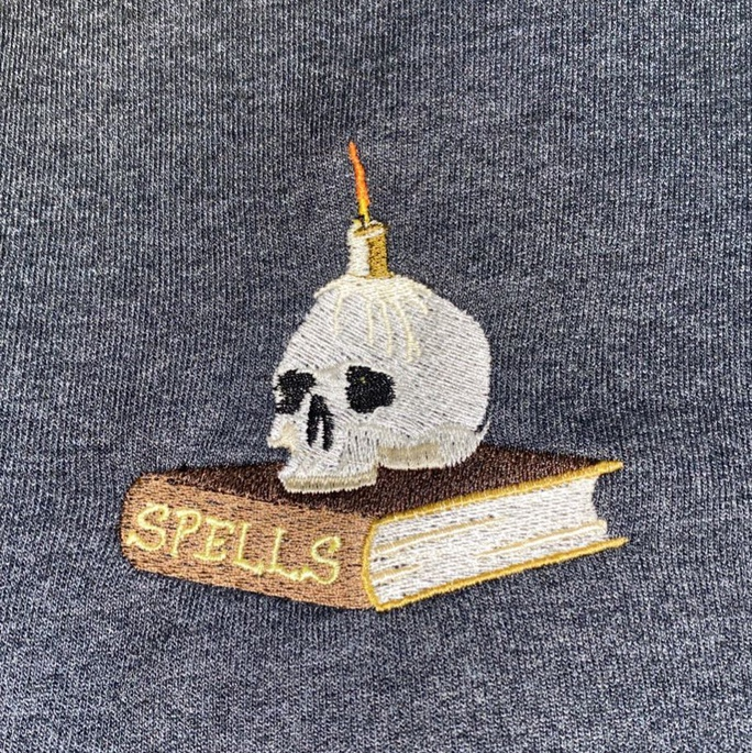 """Product Image 1 - . 🎃 """" spells """" embroidered"""