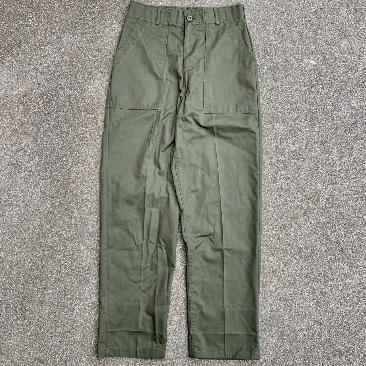 Product Image 1 - 1980s Military Fatigues  Military pants Polyester-cotton blend,
