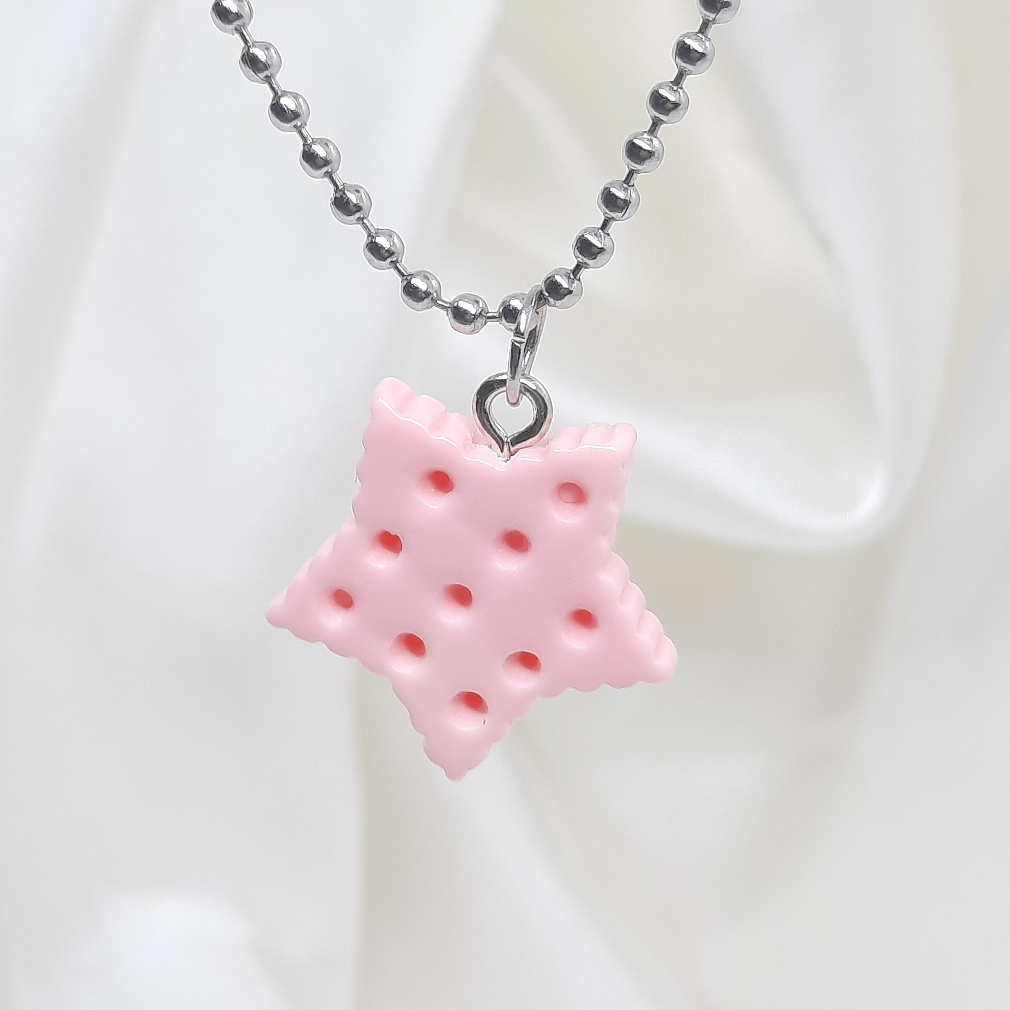 Product Image 1 - 🍬Star Biscuit Necklace🍦  Handmade pink necklace,