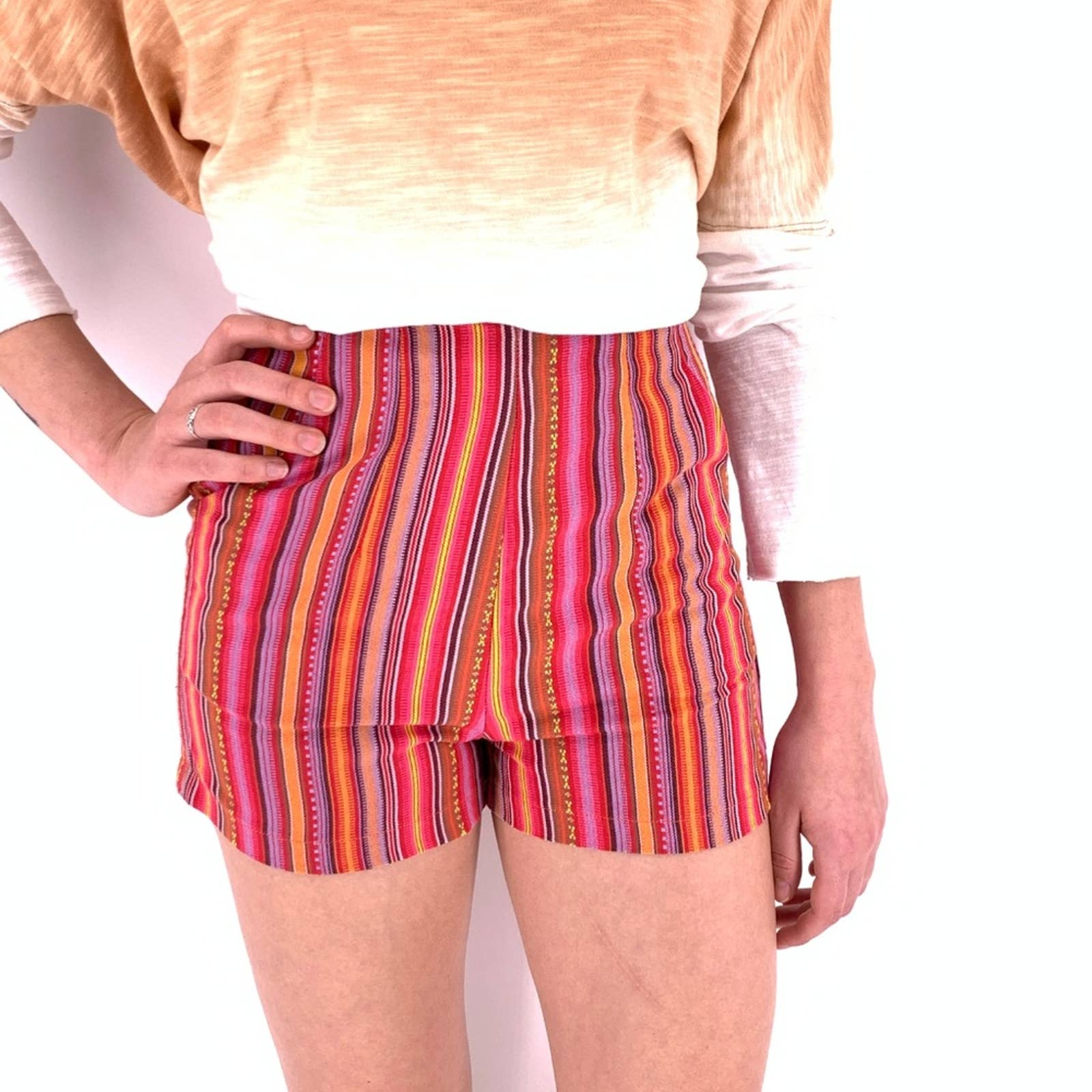 Product Image 1 - Kaisely high-waisted Aztec/tribal woven shorts Sz