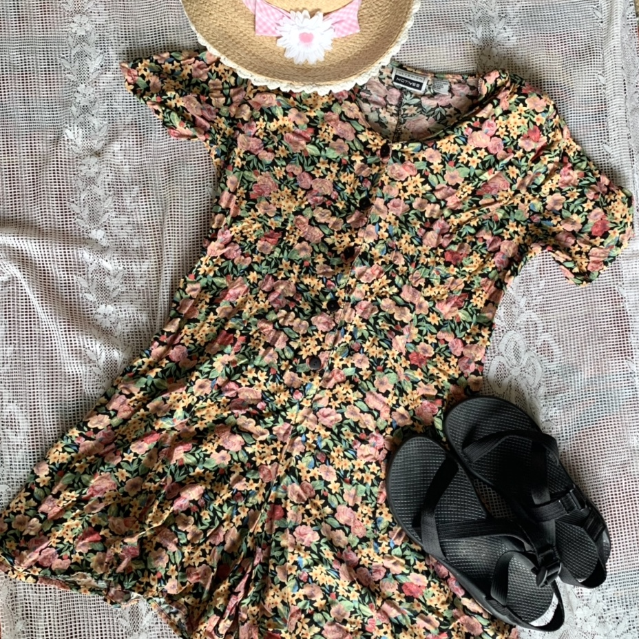 Product Image 1 - ✨🌸 Vintage Floral Romper with