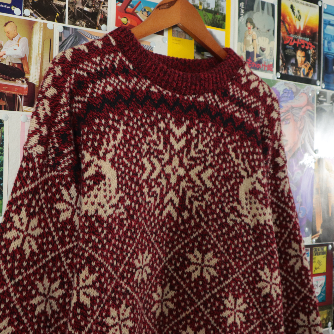 Product Image 1 - Vintage Knit Sweater  Size Large  Pit to