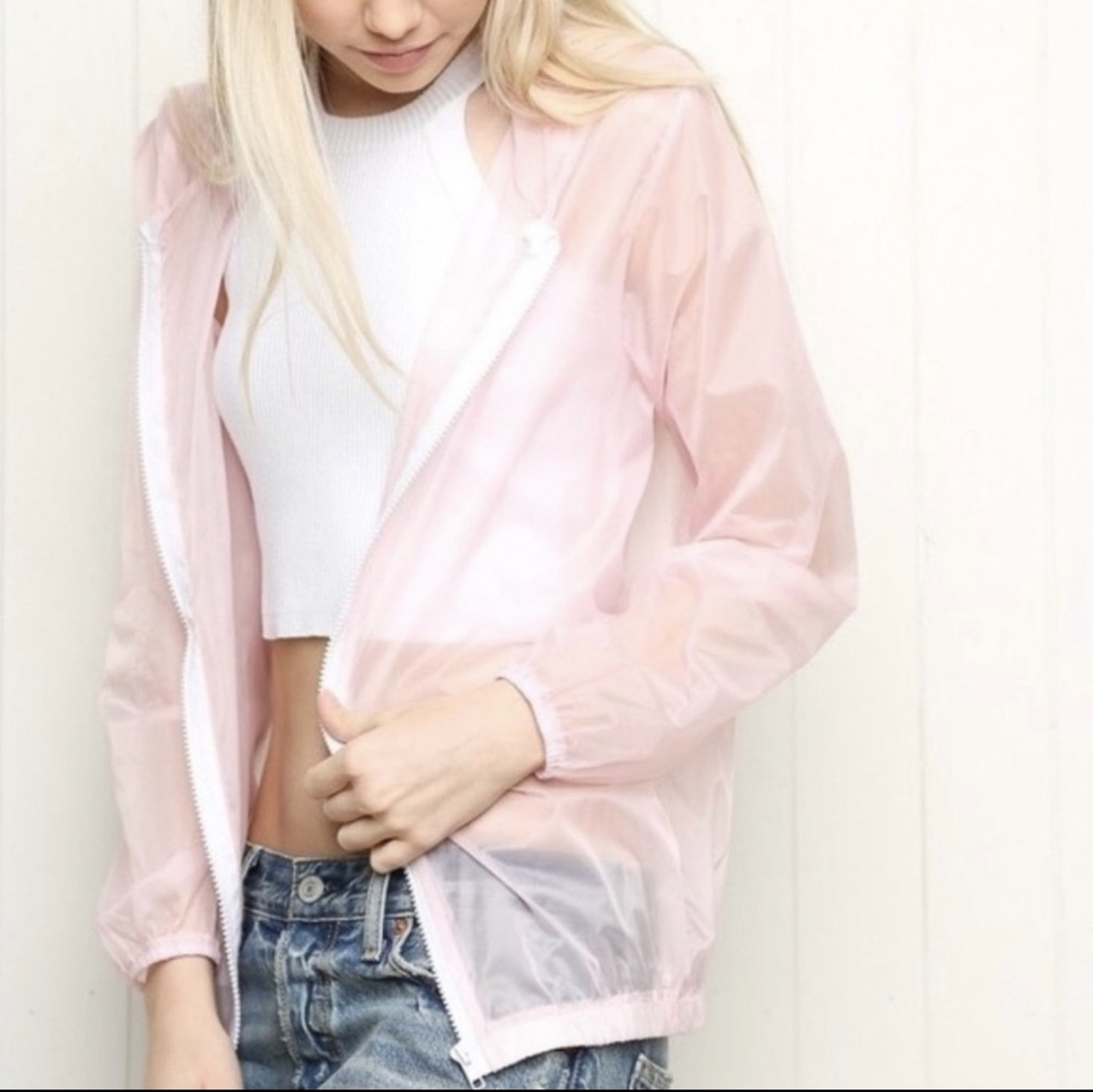 Product Image 1 - Brandy Melville pink zip up