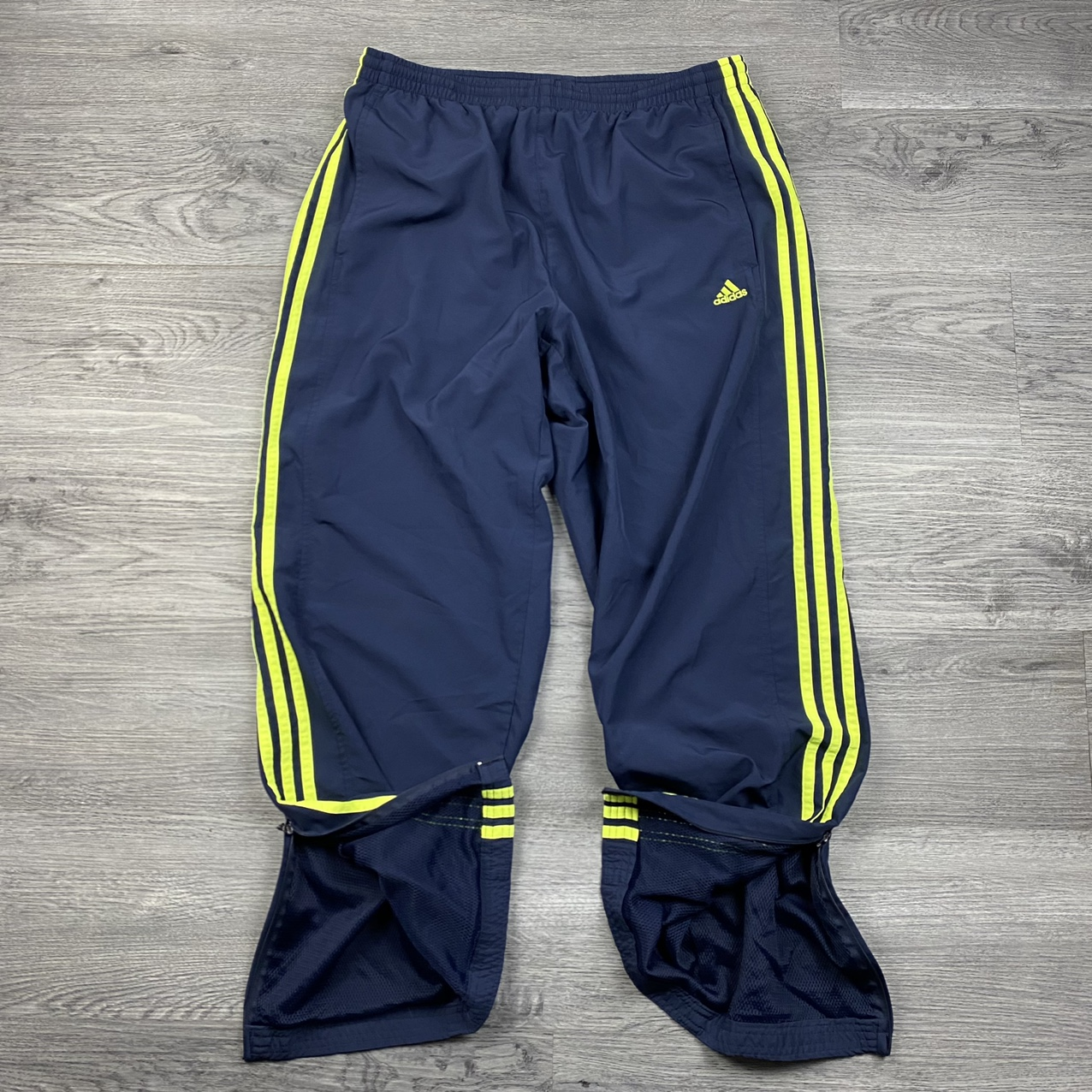 Product Image 1 - Adidas Neon Striped Track Pants  •2005 •Neon