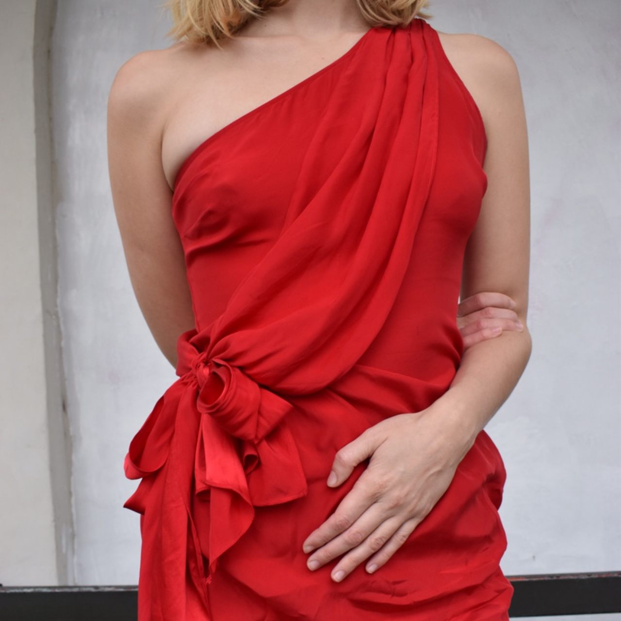 Product Image 1 - RED TOGA-STYLE SILK DRESS  100% silk
