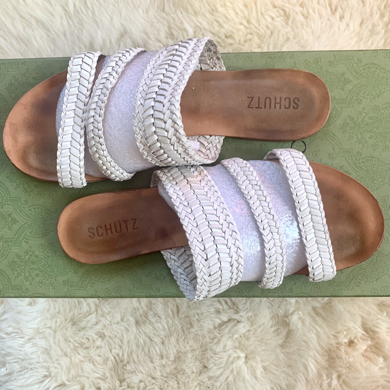 Product Image 1 - Schutz Leather Sandal White Woven