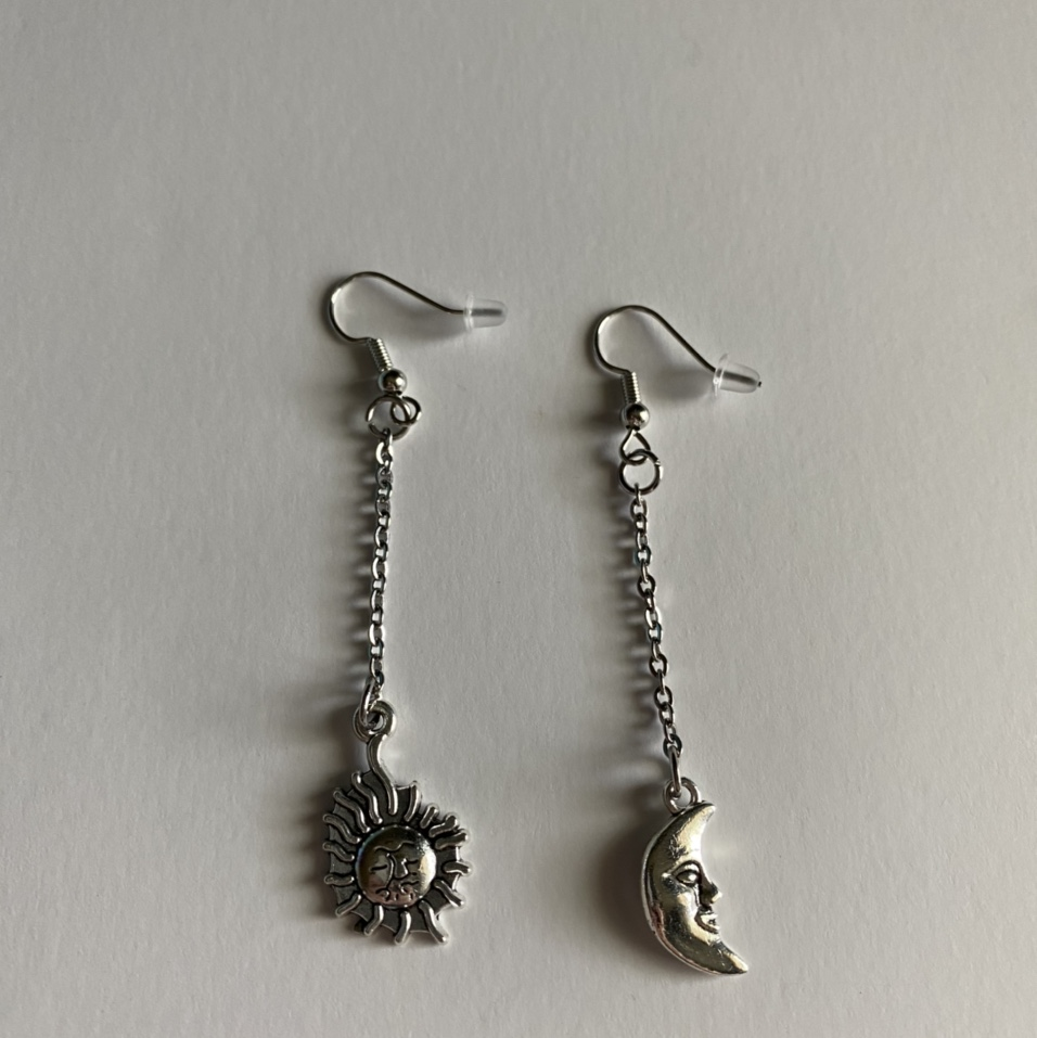 Product Image 1 - sun and moon chain earrings