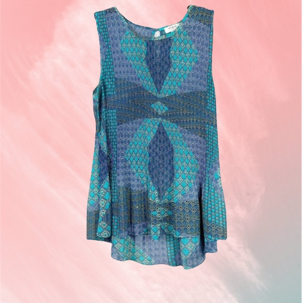 Product Image 1 - UMGEE Pleated Scrunch Printed Tank