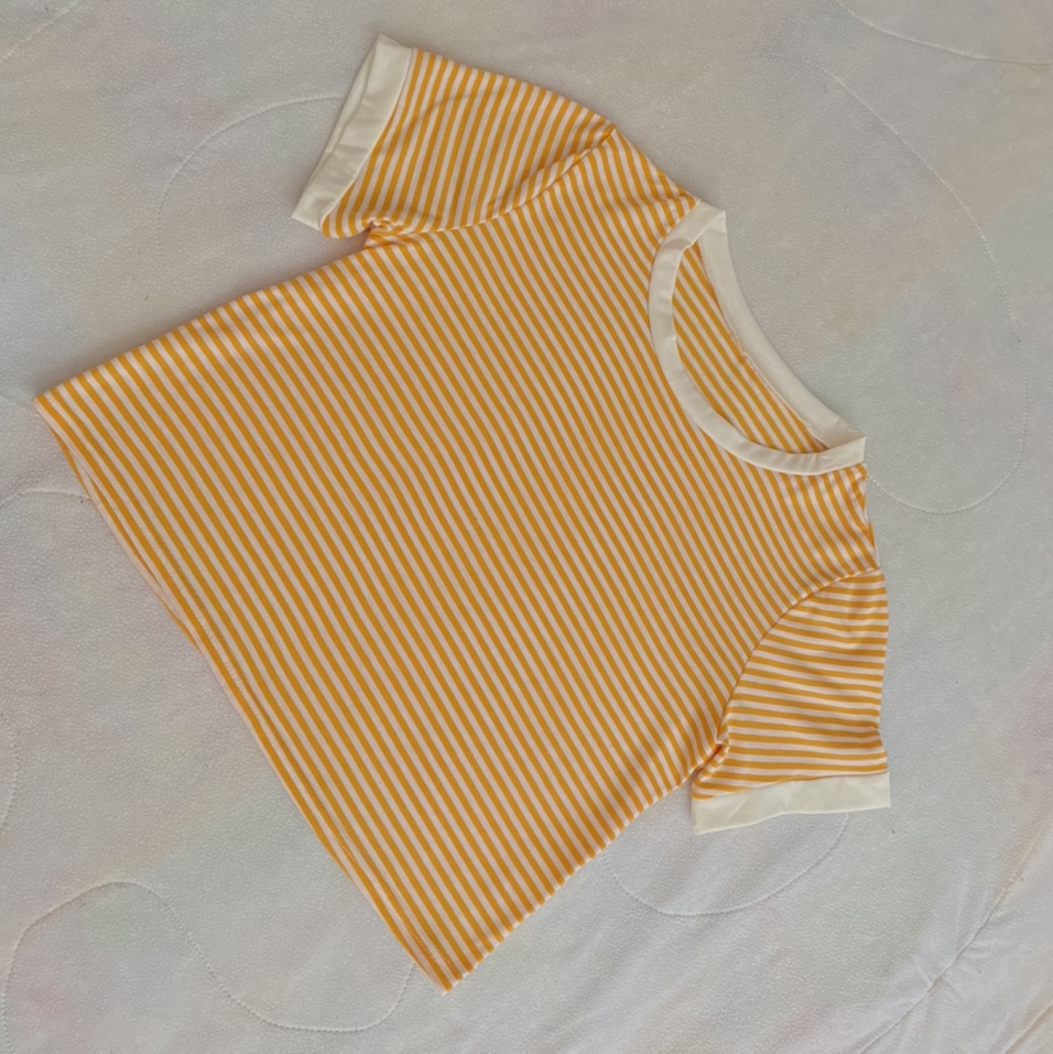 Product Image 1 - white & yellow striped 90s