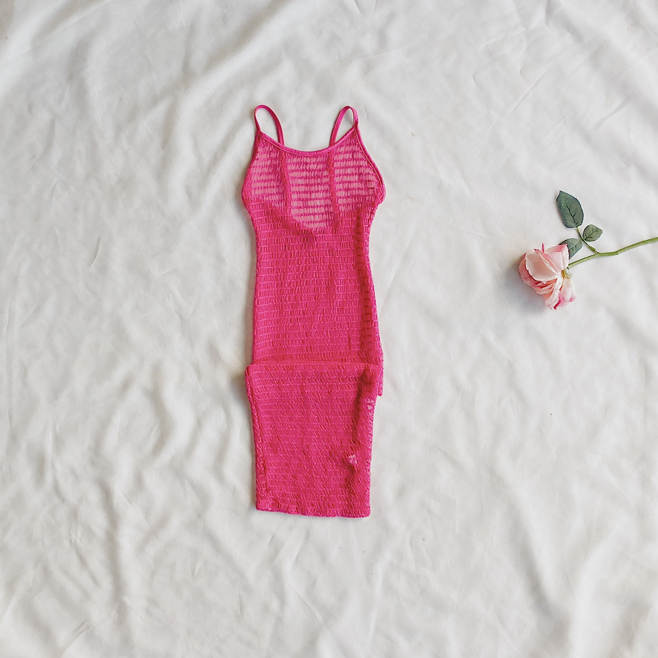 Product Image 1 - Pink See-Through Dress Bust 32/33 inches