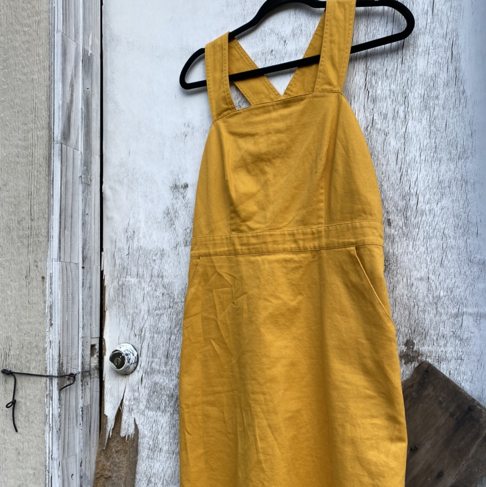 Product Image 1 - Mustard Overall Skirt 🧡 🧡size: m 🧡no