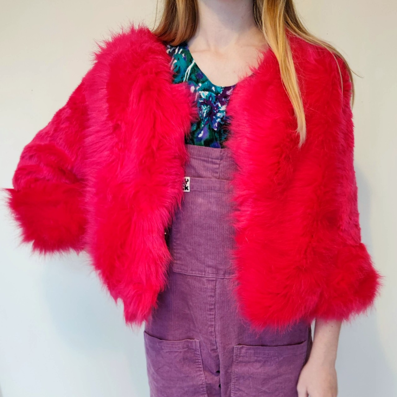 Product Image 1 - Faux fur pink jacket Cropped Purchased online